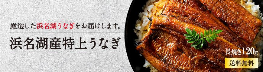 浜名湖産120g特選うなぎ蒲焼きは送料無料。