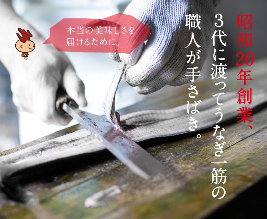 一子相伝の秘伝タレは継ぎ足しで半世紀以上。浜名湖うなぎを引き立てます。