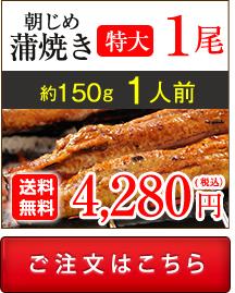 浜名湖産朝じめうなぎ蒲焼き1尾値段。送料無料でお取り寄せ。